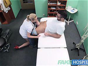faux hospital Hired handyman ejaculates all over nurses booty