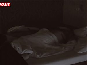 Russian babe gets pro fuck-a-thon to help her sleep