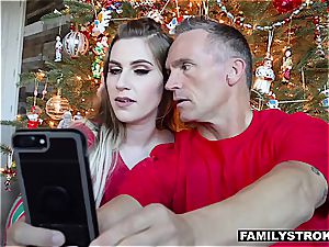 Niki Snow gets a romping for Christmas from her daddy