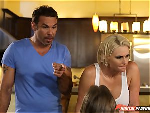 Family fuck-fest lessons with stepmom and stepdad - Phoenix Marie and Alexis Adams