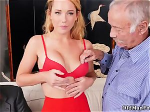 elderly damsel ass and cougar tearing up Frannkie And The gang Tag team A Door To Door Saleswoman