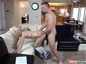 Carmen Callaway is in for some hefty fuck-stick and some immense sausage is in Carmen Callaway