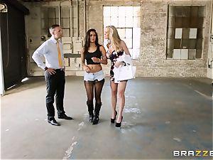 Brandi enjoy lets ho-bo Abbey Lee Brazil plow her boy