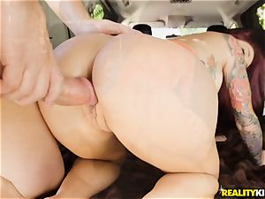Monique Alexander blows a ample meatpipe in the car