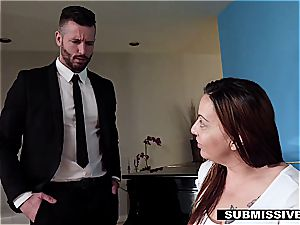 cuckold hubby forced to plow his secretary in front of his wife