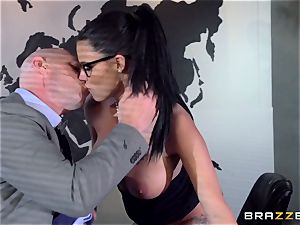 meaty titted Peta Jensen smashed via the boardroom table