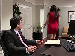 Kaylynn gives her boss a taster