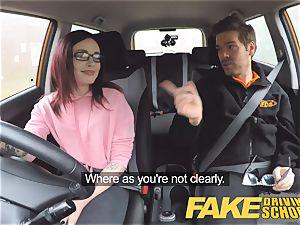 fake Driving school teen Creampied by UK tutor