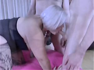 LACEYSTARR - thirsty granny gangbanged