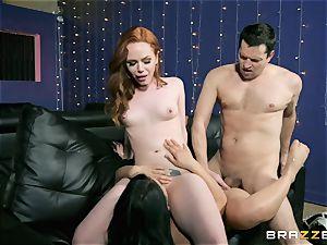 three-way fun with Ella Hughes