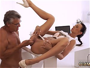 aged daddy in law and highly granny finally she s got her manager jizz-shotgun