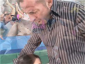 2 folks hard-on pulverizing two mischievous girls