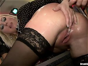 Bibi Fox and lusty ladies laid with hunk's 3rd gam
