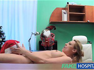 FakeHospital medic Santa blows a load two times this year
