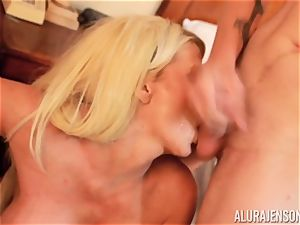 shaft sucking insane three way Alura Jenson and stud gives a helping arm