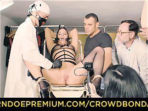 CROWD bondage submissive Amirah Adara first-ever time sadism & masochism