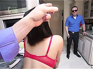 Housewife gets pounded in front of blind spouse
