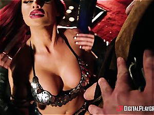 Jessa Rhodes gets some barbarian romp for saving a hero in danger