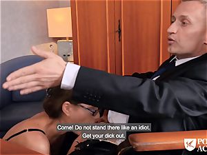 porno ACADEMIE - british Tina Kay warm buttfuck in three-way