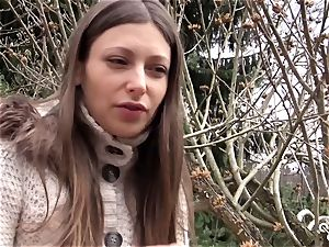 QUEST FOR climax - molten Ukrainian stunner thumbs herself