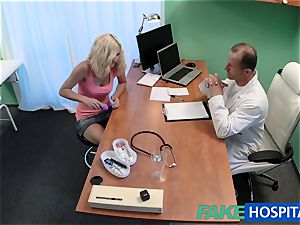 FakeHospital blondie patient toying with her snatch