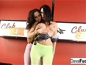 Ava and Dava give each other lap dances