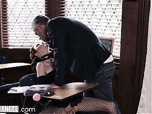 goth stroking In Detention is rectally punished