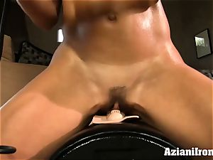 Brandi love rides the sybian saddle nude