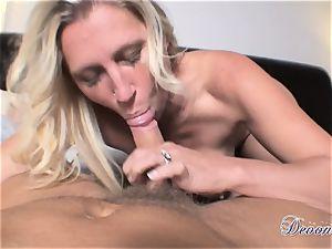 Devon Lee is luving her man's lash tucked in her edible gullet