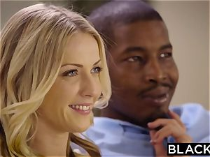 big black cock three-way for super-hot platinum-blonde intern Naomi