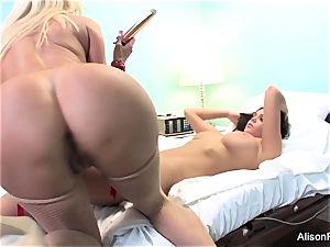 bizarre Nurse Nikita Von James attempts to heal Alison Tyler