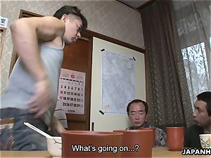 freaks spy and stroke on the milking japanese wifey