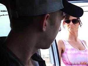 spectacular stepmom Syren Demer pokes her stepsons phat man rod