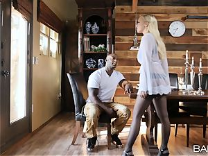 Bailey Brooke rides giant bbc in cabin