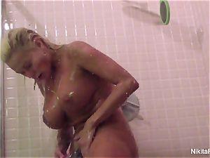 Nikita's Home video - showering and shaving herself