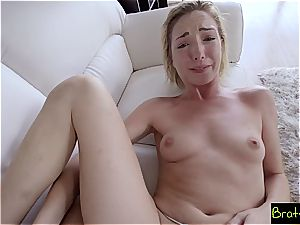 Stepbro accidentally glides his pecker in his step-sister pussy