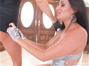 huge-chested girl/girl love with Samantha and Charley