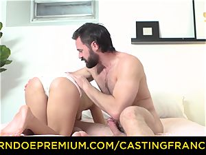 casting FRANCAIS - unexperienced ultra-cutie pummeled and spunk coated