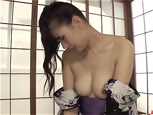 super-naughty cougar Yui Oba loves rock-hard hook-up with younger boy