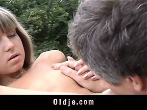 aged anal insertion for lil' taut donk