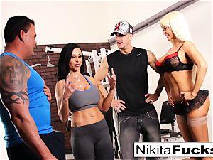 Nikita Von James joins a exercise fuckfest