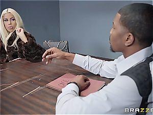 dangled ebony detective assfucking a ash-blonde sweetheart