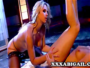 Louisa Lanewood and Sarah Vandella: eyes covered beauties