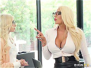 gigantic boss tart Nicolette manhandles poor lil' Piper Perri