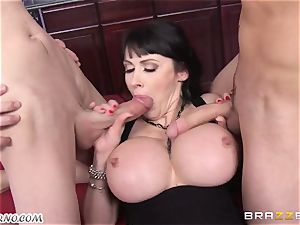 drunk milf Eva Karera with giant globes indulges on the party