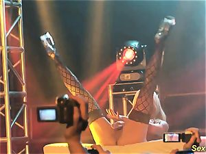 buxom milf lapdance on stage