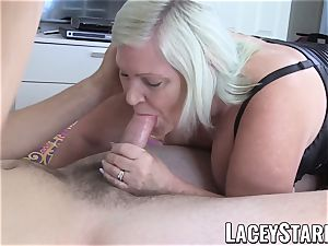 LACEYSTARR - grandma cocksucker railing for internal ejaculation