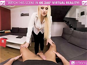 VR pornography - My torrid wife Angel Wicky cums early