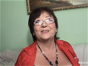 ultra-kinky mature keeps her stocking on for tearing up