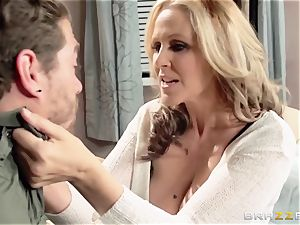 Julia Ann flashes her sons-in-law mate a great time